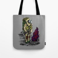 spaceman Tote Bags featuring Spaceman by Mihail.Kosarenin