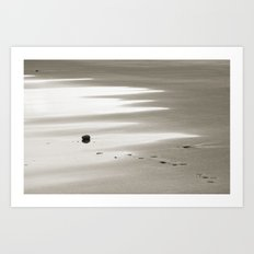 Walk on the beach Art Print
