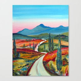 TUSCANY COUNTRY ROAD Canvas Print