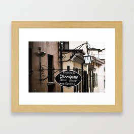 Wine Shop Sign Framed Art Print