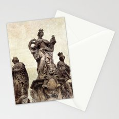 Statue on Charles Bridge in Prague Stationery Cards
