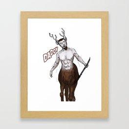 Santa's present, from reindeer. Framed Art Print