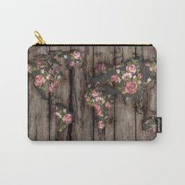 Wood Flowers Mapamundi Carry-All Pouch
