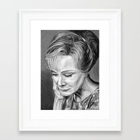 jessica lange Framed Art Prints featuring Jessica Lange by The Dark Art of Dawn