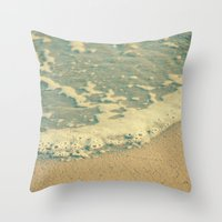 swimming Throw Pillows featuring Swimming by MundanalRuido