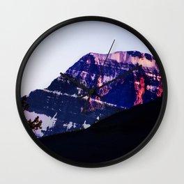 Purple Days - Mountain in Jasper, Alberta Wall Clock