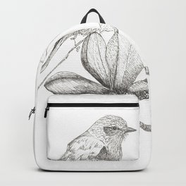 Bird and magnolia Backpack