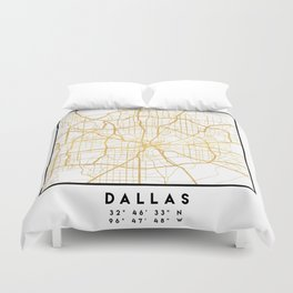 DALLAS TEXAS CITY STREET MAP ART Duvet Cover