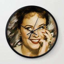 Paulette Goddard Wall Clock