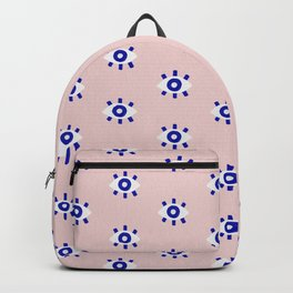 Evil Eye Dots – Navy & Blush Palette Backpack