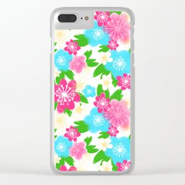 04 Pattern of Watercolor Flowers Clear iPhone Case