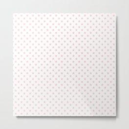 Millennial Pink Pastel Stars on White Metal Print