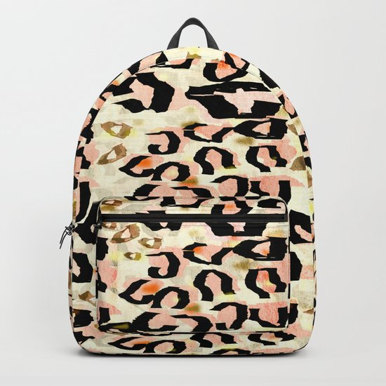 Abstract Leopard Print Backpack