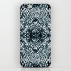 Beautiful Silver sparkles Frozen Ice bubbles Mandala iPhone & iPod Skin