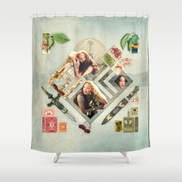 Soft :: Fine Art Collage Shower Curtain