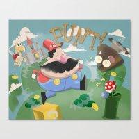 mario Canvas Prints featuring Mario by Olly Blake