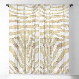 Golden zebra Sheer Curtain