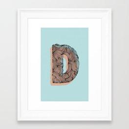 """""""D"""" Doodle Framed Art Print"""