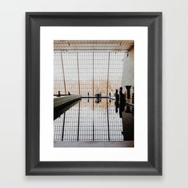 Reflections at The Met Framed Art Print