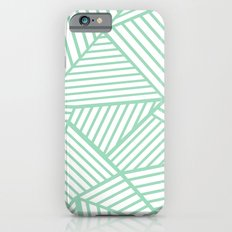Abstract Lines Close Up Mint Slim Case iPhone 6