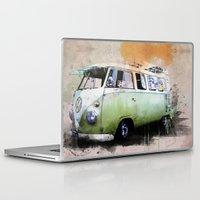 volkswagen Laptop & iPad Skins featuring vintage volkswagen by d.ts