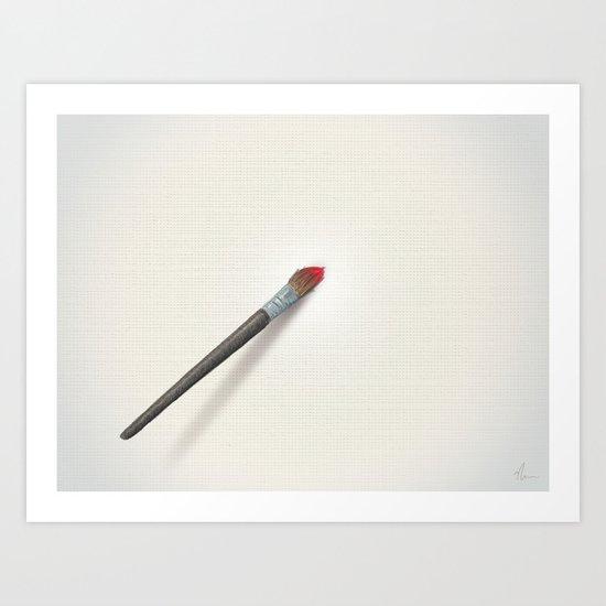 Blank Canvas - Painting Art Print