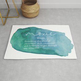 Moxie Definition - Blue Watercolor Rug