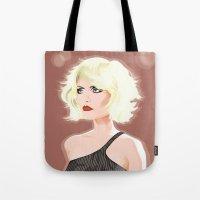 blondie Tote Bags featuring Blondie by drawgood