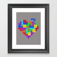 THE GAME OF LOVE Framed Art Print