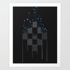 Space Flow Between Buildings Art Print