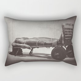 Lay Down - Nude woman lay down and tied up Rectangular Pillow