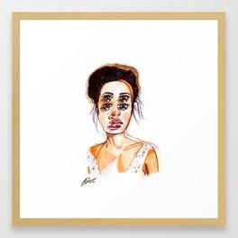 """Seeing Double"" Illustration Framed Art Print"