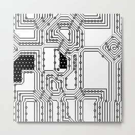 Circut Pattern Metal Print
