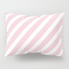 Pink Diagonal Stripes Pillow Sham