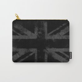 Grey Grunge UK flag Carry-All Pouch