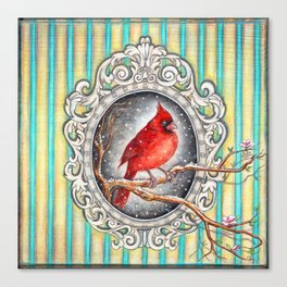 RED CARDINAL in FRAME Canvas Print