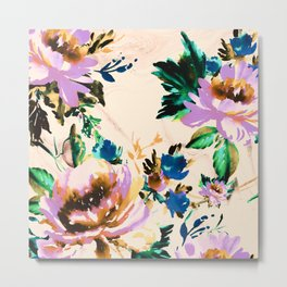 Watercolor blooming paint Metal Print