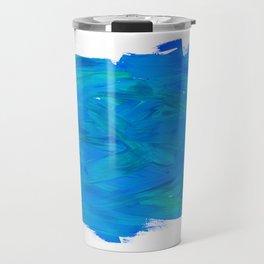 Blue Paint Abstract Travel Mug
