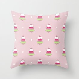 Strawberry Holiday Bells Throw Pillow