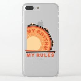 My Rhythm My Rules Clear iPhone Case