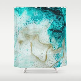 "Tides of Change | ""Sand Bar"" (4) Shower Curtain"