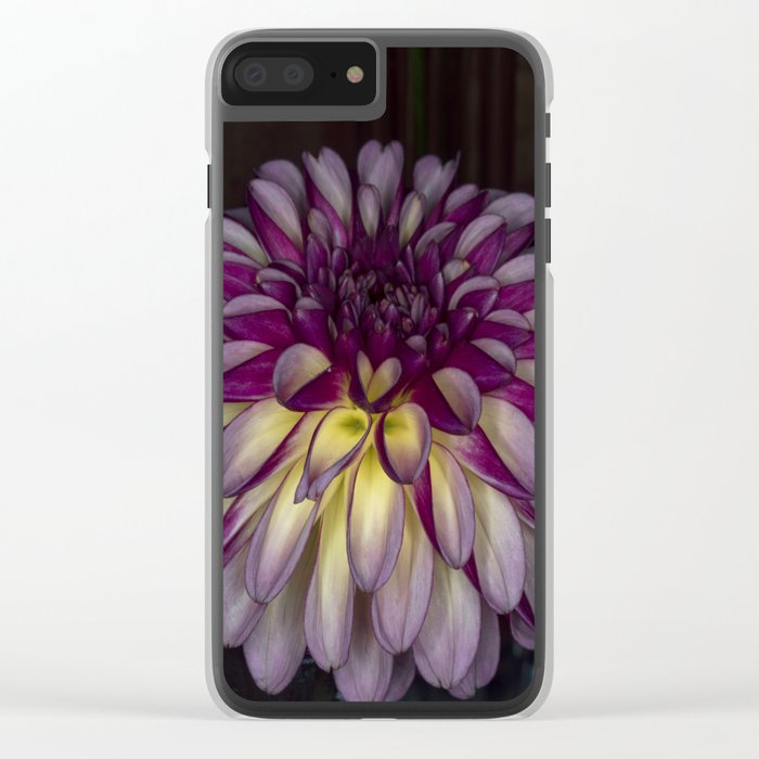 Flower glow Clear iPhone Case