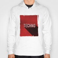 techno Hoodies featuring Techno by Barbo's Art