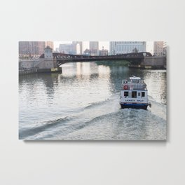 Evening on the Chicago River Metal Print