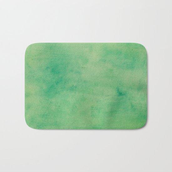 MINT GREEN WATERCOLOR BACKGROUND.  Bath Mat