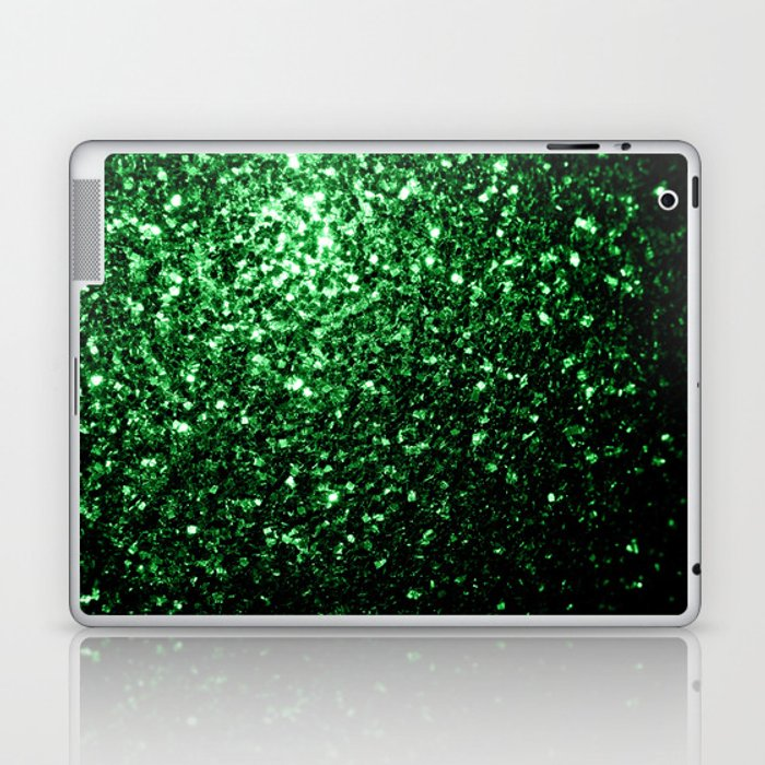 Glamour Dark Green glitter sparkles Laptop & iPad Skin
