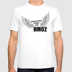 Spread your wings and HM02 Mens Fitted Tee SMALL White