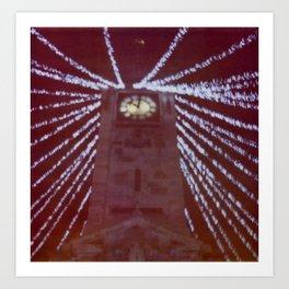 Brighton Clock Tower Lights Art Print