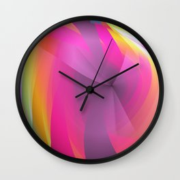 Abstract in rainbow colors and an optical effect Wall Clock