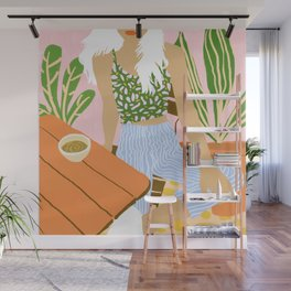 Kawa Tea #illustration #fashion Wall Mural